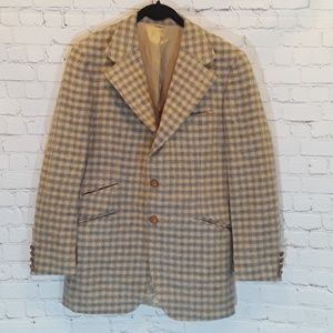 Chaps by Ralph Lauren camel and gray plaid blazer